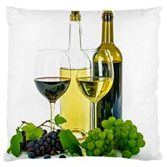 White Wine Red Wine The Bottle Large Cushion Case (One Side)