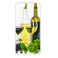 White Wine Red Wine The Bottle Apple iPhone 5 Seamless Case (White)
