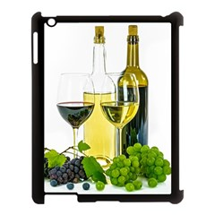 White Wine Red Wine The Bottle Apple iPad 3/4 Case (Black)