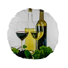 White Wine Red Wine The Bottle Standard 15  Premium Round Cushions