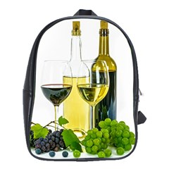 White Wine Red Wine The Bottle School Bags (xl)