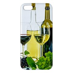 White Wine Red Wine The Bottle Apple iPhone 5 Premium Hardshell Case