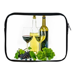 White Wine Red Wine The Bottle Apple iPad 2/3/4 Zipper Cases