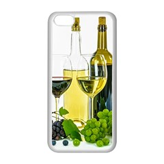 White Wine Red Wine The Bottle Apple iPhone 5C Seamless Case (White)