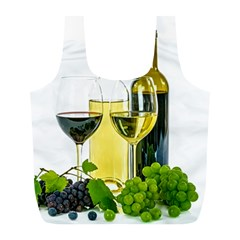 White Wine Red Wine The Bottle Full Print Recycle Bags (l)