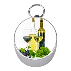 White Wine Red Wine The Bottle Mini Silver Compasses
