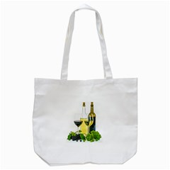 White Wine Red Wine The Bottle Tote Bag (white)