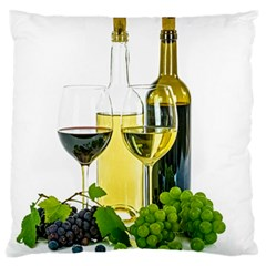 White Wine Red Wine The Bottle Standard Flano Cushion Case (One Side)