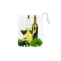 White Wine Red Wine The Bottle Drawstring Pouches (xs)