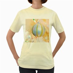 Sphere Tree White Gold Silver Women s Yellow T-Shirt
