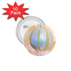 Sphere Tree White Gold Silver 1 75  Buttons (10 Pack)