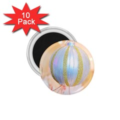Sphere Tree White Gold Silver 1.75  Magnets (10 pack)