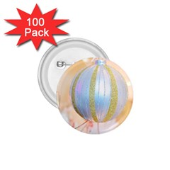 Sphere Tree White Gold Silver 1 75  Buttons (100 Pack)
