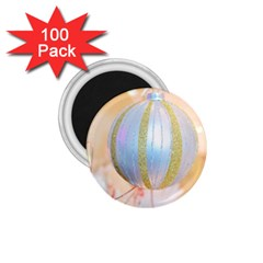 Sphere Tree White Gold Silver 1 75  Magnets (100 Pack)