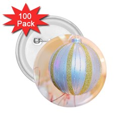 Sphere Tree White Gold Silver 2 25  Buttons (100 Pack)