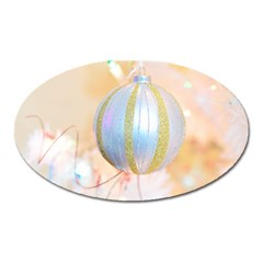 Sphere Tree White Gold Silver Oval Magnet