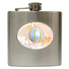 Sphere Tree White Gold Silver Hip Flask (6 Oz)