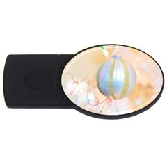 Sphere Tree White Gold Silver USB Flash Drive Oval (1 GB)