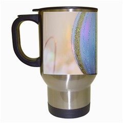 Sphere Tree White Gold Silver Travel Mugs (white)