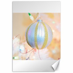 Sphere Tree White Gold Silver Canvas 12  x 18