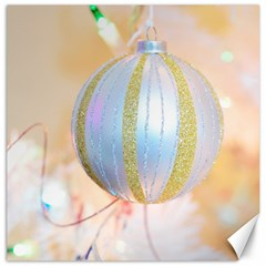 Sphere Tree White Gold Silver Canvas 16  x 16
