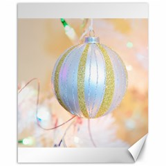 Sphere Tree White Gold Silver Canvas 16  X 20