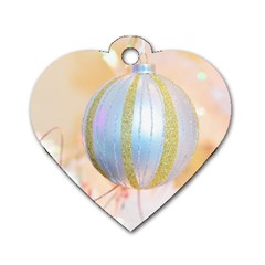 Sphere Tree White Gold Silver Dog Tag Heart (Two Sides)