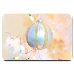 Sphere Tree White Gold Silver Large Doormat