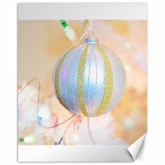 Sphere Tree White Gold Silver Canvas 11  X 14