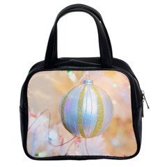 Sphere Tree White Gold Silver Classic Handbags (2 Sides)