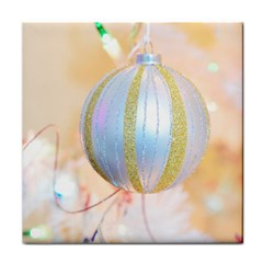 Sphere Tree White Gold Silver Face Towel