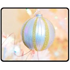 Sphere Tree White Gold Silver Fleece Blanket (medium)
