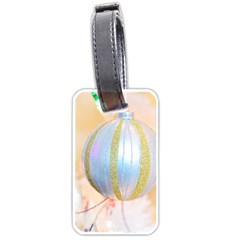 Sphere Tree White Gold Silver Luggage Tags (two Sides)