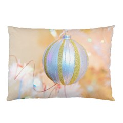 Sphere Tree White Gold Silver Pillow Case (Two Sides)