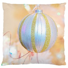 Sphere Tree White Gold Silver Large Cushion Case (One Side)