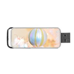 Sphere Tree White Gold Silver Portable USB Flash (One Side)