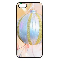 Sphere Tree White Gold Silver Apple iPhone 5 Seamless Case (Black)