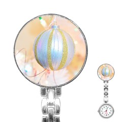 Sphere Tree White Gold Silver Stainless Steel Nurses Watch