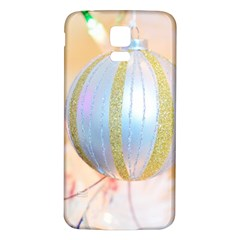 Sphere Tree White Gold Silver Samsung Galaxy S5 Back Case (White)