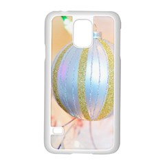 Sphere Tree White Gold Silver Samsung Galaxy S5 Case (White)