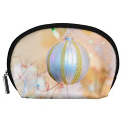 Sphere Tree White Gold Silver Accessory Pouches (Large)