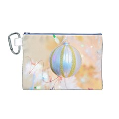 Sphere Tree White Gold Silver Canvas Cosmetic Bag (m)