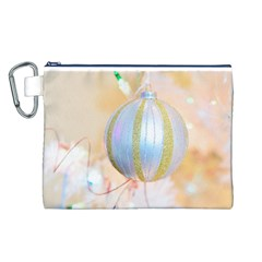 Sphere Tree White Gold Silver Canvas Cosmetic Bag (L)