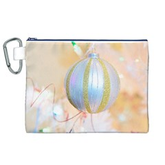 Sphere Tree White Gold Silver Canvas Cosmetic Bag (XL)