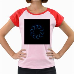 Background Abstract Decorative Women s Cap Sleeve T-Shirt