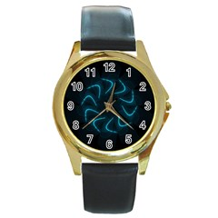 Background Abstract Decorative Round Gold Metal Watch