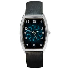 Background Abstract Decorative Barrel Style Metal Watch