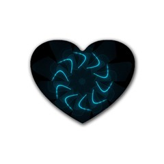 Background Abstract Decorative Rubber Coaster (Heart)