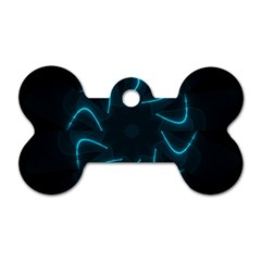 Background Abstract Decorative Dog Tag Bone (two Sides)