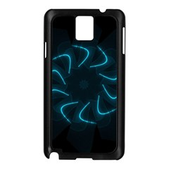 Background Abstract Decorative Samsung Galaxy Note 3 N9005 Case (black)